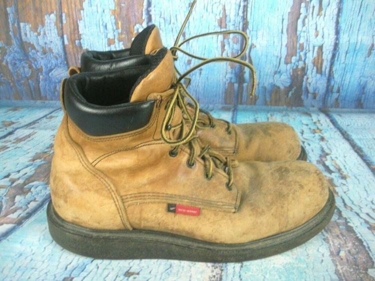b400718418ee9 Red Wing 676 Brown Leather Soft Toe Work Boots Men's Size: 13 D