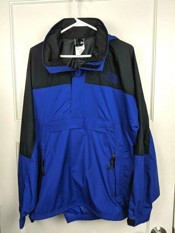 5ae149d50 North Face Anorak Windbreaker Jacket Pullover Hood 1/2 Zip Kangaroo Pouch  Mens M