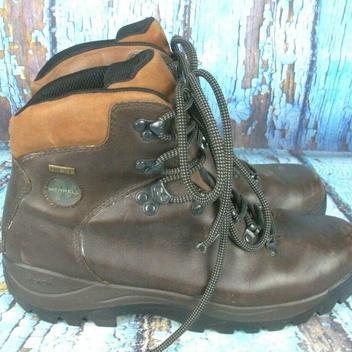 a6ebf9e6f39 Merrell Ridge Gore-Tex Brown Leather Hiking Trail Boots Vibram Men's Size:  10