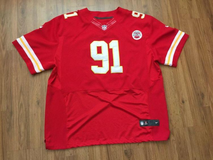 uk availability dc1c0 a9238 Kansas City Chiefs TAMBA HALI #91 SUPER AWESOME Nike Size 60 3XL Football  Jersey!