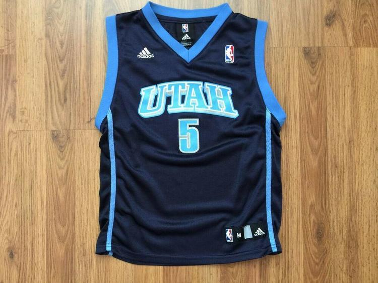 premium selection a69bd 8810f Utah Jazz Carlos Boozer #5 NBA Adidas Kids Size M 10-12 Basketball Jersey!