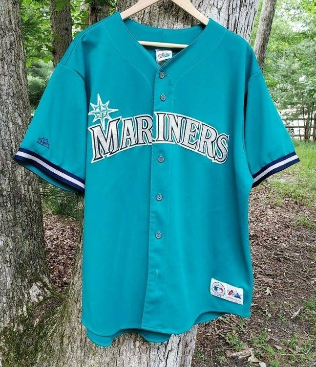 first rate f3cc4 83d30 VTG Ken Griffey Jr. Seattle Mariners Jersey 2XL Majestic Made In USA #24  Teal