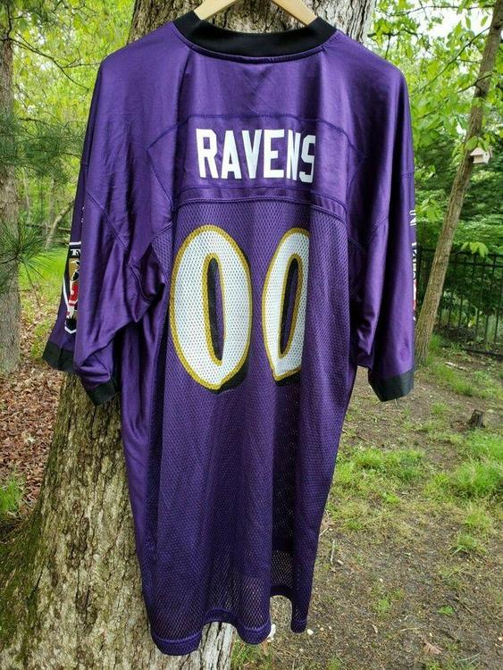 newest collection e1ba3 3a78a VTG Baltimore Ravens #00 Fan Jersey XL Reebok Authentic On Field Custom
