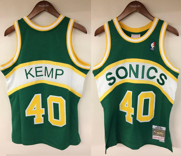 outlet store 1960f fb710 Shawn Kemp Seattle SuperSonics Mitchell & Ness Authentic 1994-1995 Jersey  Sonics