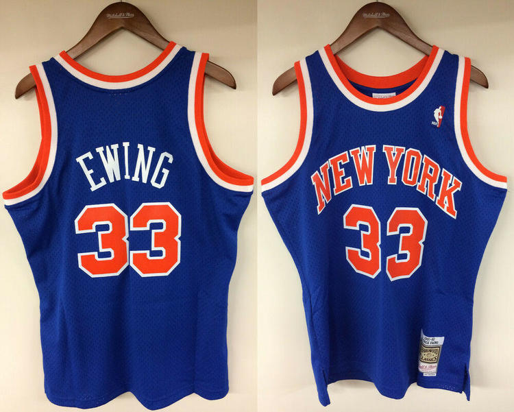 half off aad74 3b1a3 Patrick Ewing New York Knicks NY Mitchell & Ness NBA Authentic 1991-1992  Jersey