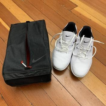 Nike Men S Vapor Pro Shoe White Size 9 Comes With Free Bag Golf Shoes