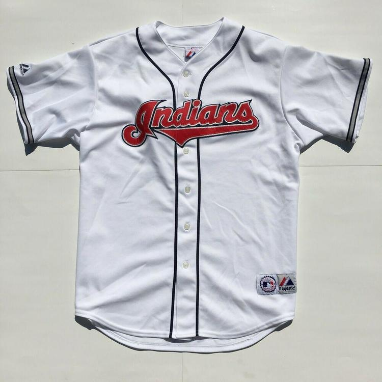 quality design 038cb 41f3d Cleveland Indians Baseball Jersey Stitched Majestic Home White/Blue/Red MLB  XL