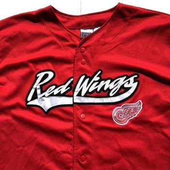 reputable site 9c7c8 5e6e4 VTG Detroit Red Wings Steve Yzerman Baseball Jersey Stitched ...