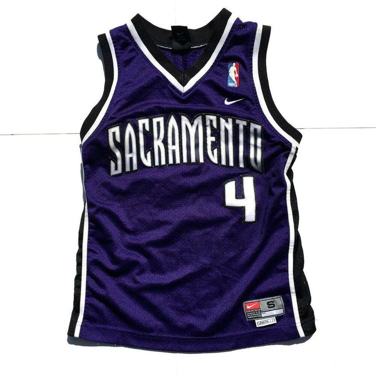 brand new eab6e 5cde8 Nike Chris Webber Sacramento Kings Basketball Jersey Stitched NBA #4 Reebok  Sz S