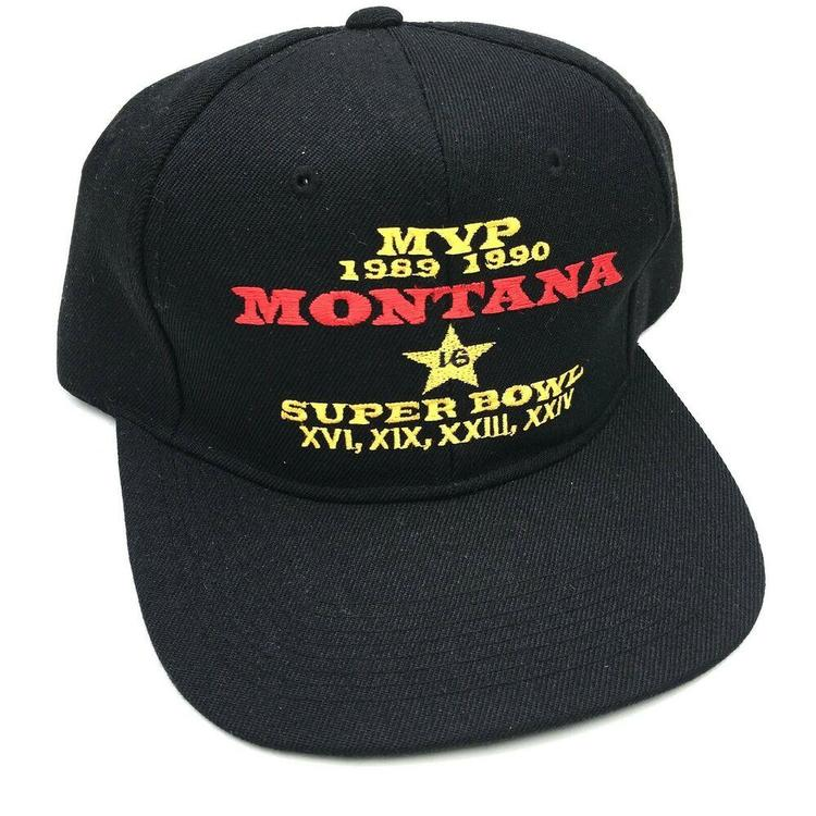 VTG Joe Montana MVP Snapback Hat Cap 1989/1990 LA Gear NFL Football Super  Bowl