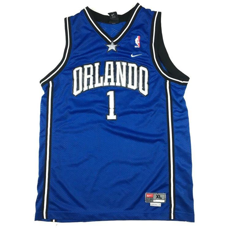 reputable site 2dbff 6acf7 Nike Tracy McGrady Orlando Magic Jersey Swingman Stitched Blue/Black NBA Sz  XL