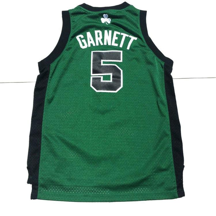 premium selection e75ad 344e3 Adidas Kevin Garnett Boston Celtics Jersey #5 Stitched Sz Youth Large |  Basketball Apparel & Jerseys | SidelineSwap
