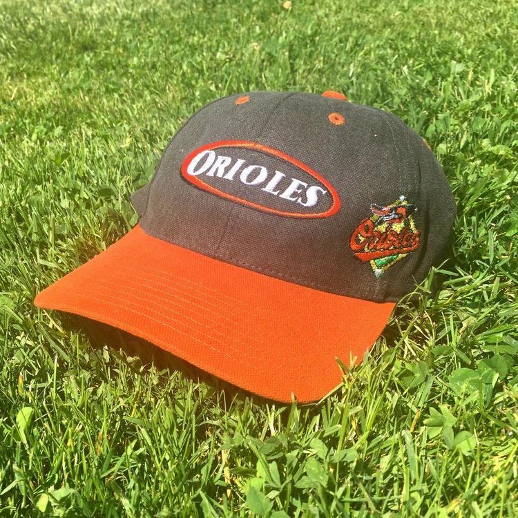 db11a5949 VTG 90s Baltimore Orioles Baseball Cap Oval Logo Embroidered Strapback Hat  MLB