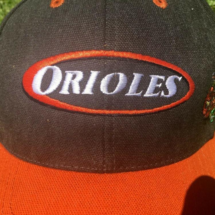 39a46e718 VTG 90s Baltimore Orioles Baseball Cap Oval Logo Embroidered Strapback Hat  MLB | Apparel Hats | SidelineSwap