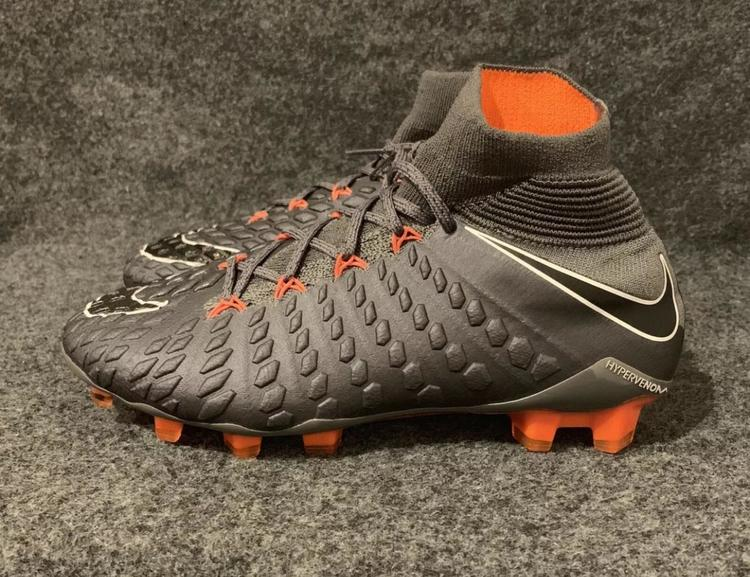 look for 77a74 8c198 Nike Youth Hypervenom Phantom 3 Elite DF FG Cleats AH7270-081 Grey Orange  Size 5y 5 Youth