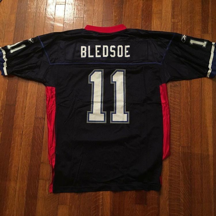 big sale 7cabb 75cfc VTG Reebok Drew Bledsoe NFL Pro Bowl Jersey #11 Red/White/Blue Sz Large