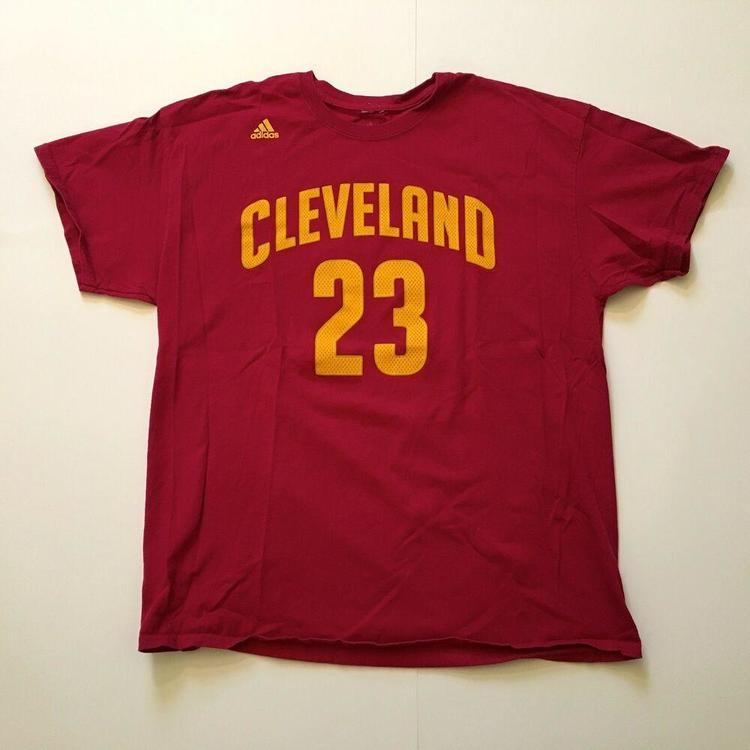 official photos 00390 d8778 Cleveland Cavaliers LeBron James #23 Jersey T-Shirt by Adidas (Sz XL)