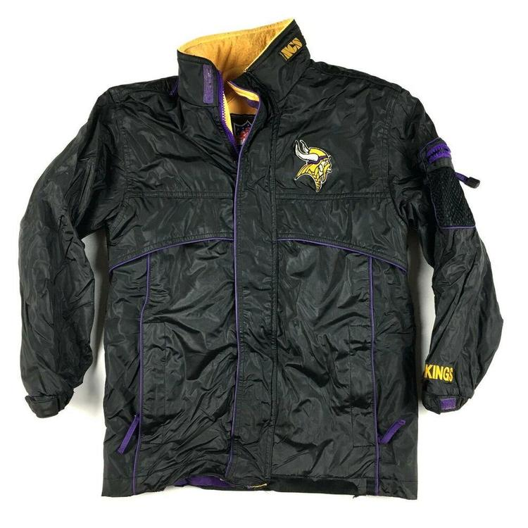 the latest e5d13 496d6 Vintage Minnesota Vikings Winter Jacket by Game Day NFL 40th Anniversary  (Sz M)