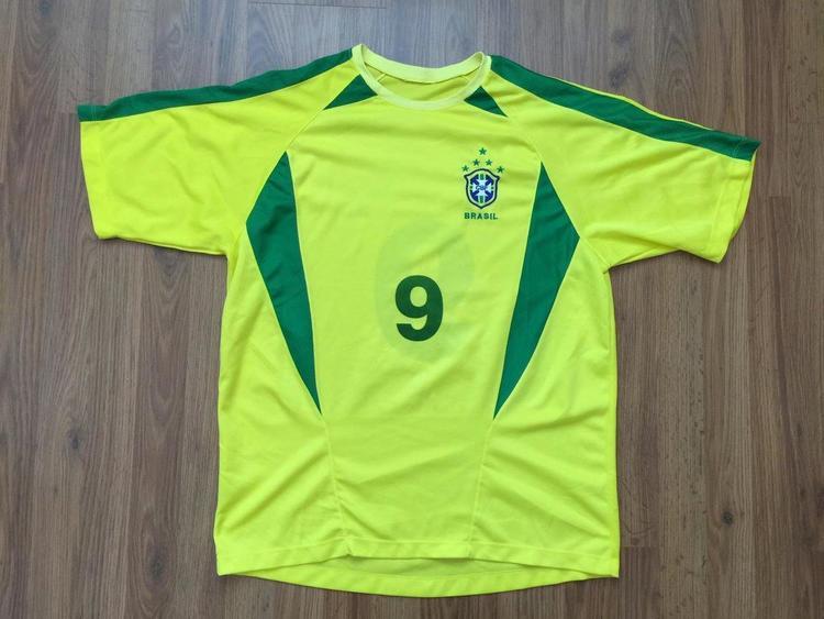 cheap for discount 9c9a5 d2e64 BRAZIL National Soccer Team #9 Ronaldo SUPER AWESOME BRASIL Futbol Size L  Jersey!