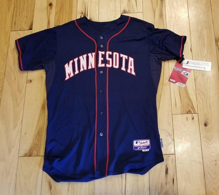 size 40 729a2 dde6b RARE Authentic Majestic Minnesota Twins Retro Road Jersey size 48 (XL)- NWT!