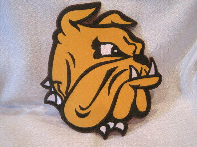 reputable site c098b 37faf Minnesota Duluth UMD Bulldogs Hockey Jersey Patch Embroidered