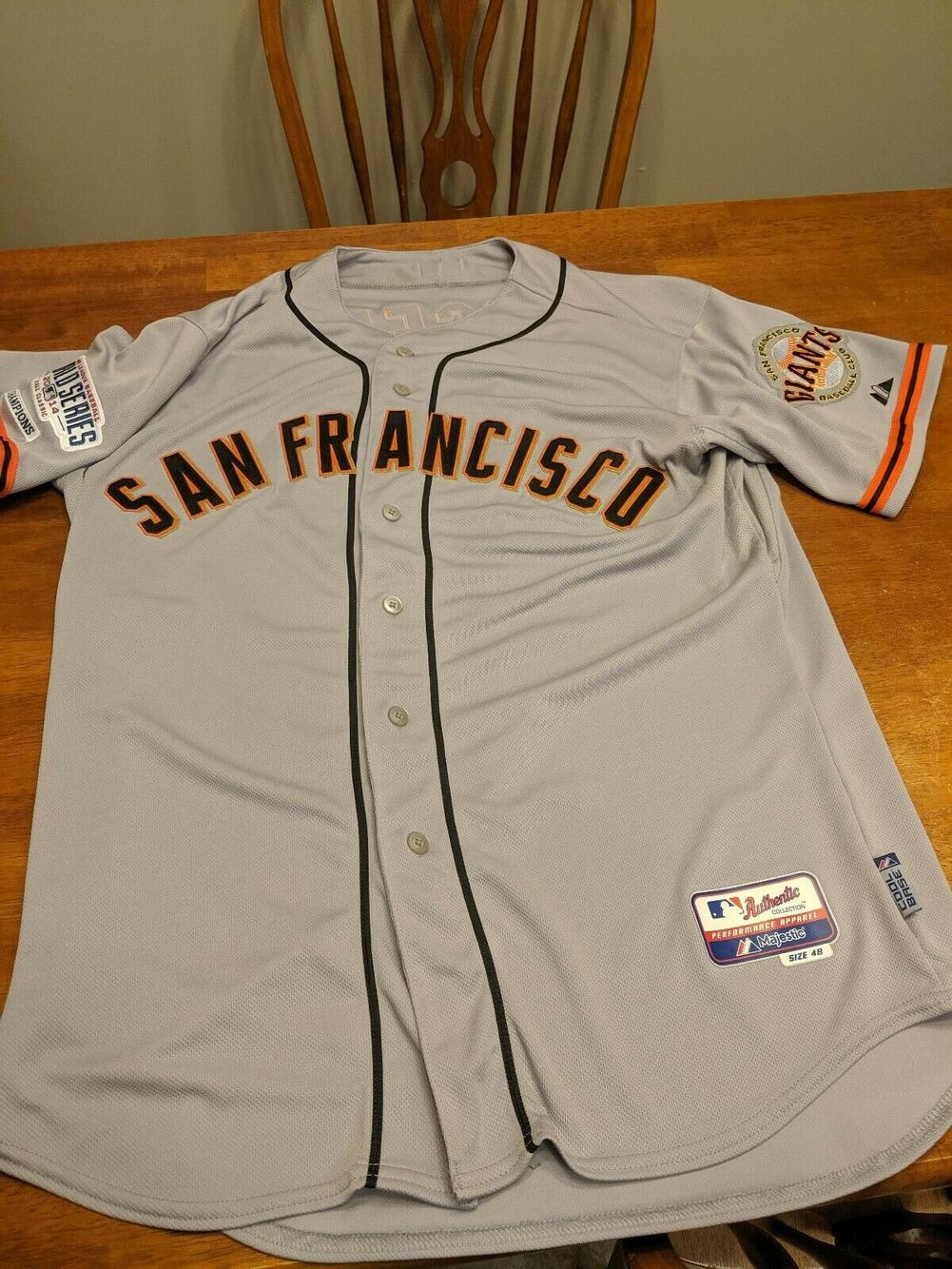 Authentic San Francisco Giants # 24 COOL BASE Road Jersey size 48 ...