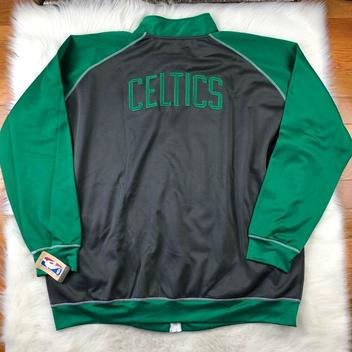 buy online a9757 e80ad Boston Celtics Mens Big & Tall Full Zip Embroidered Track ...