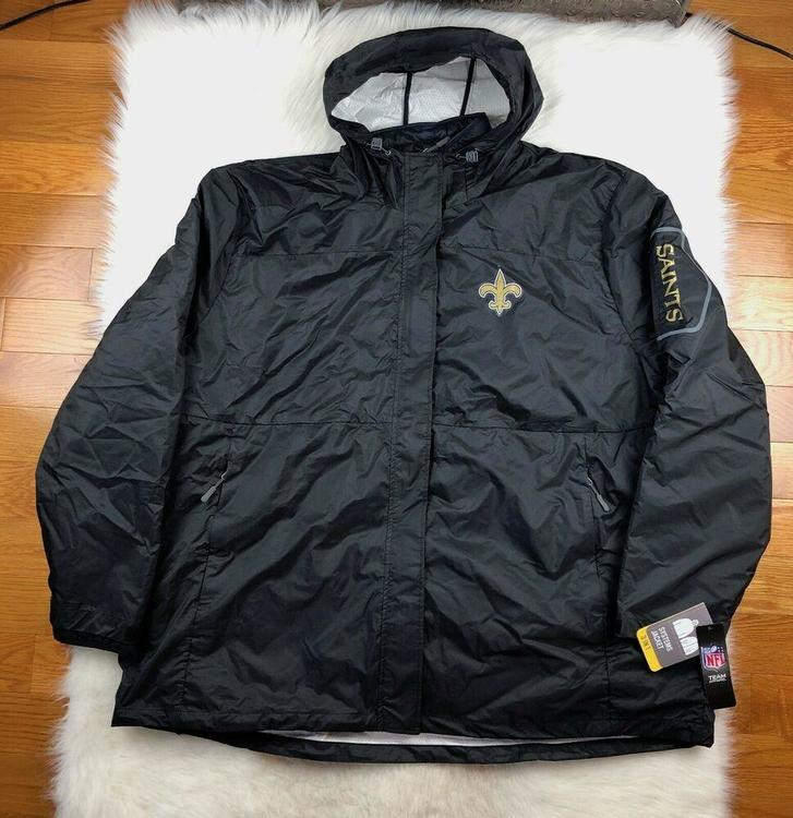 sale retailer 85030 c3905 New Orleans Saints 3 in 1 System Jacket + Puffer Big & Tall Men 6XL Black  NFL