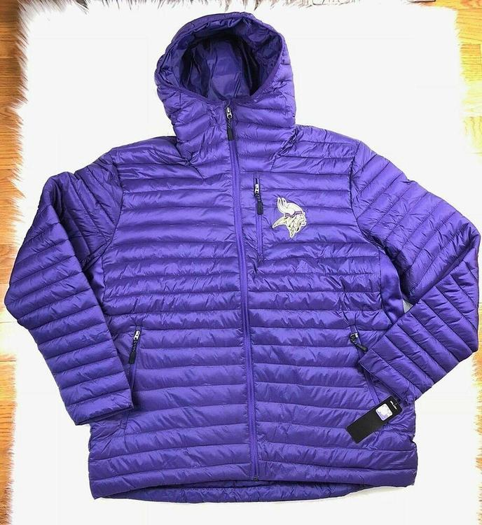 info for e76f4 18a7d Minnesota Vikings NFL Winter Full Zip Quilted Puffer Jacket Men 6XL, Purple  NWT