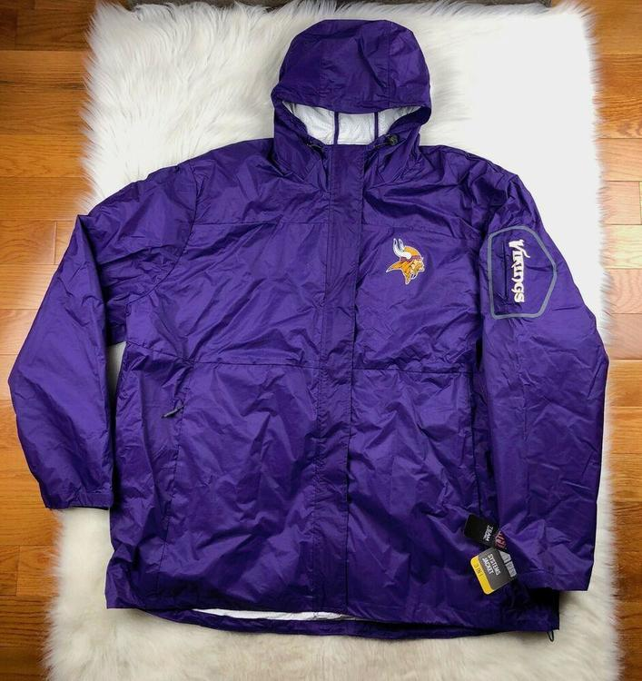 separation shoes efaf6 345ba Minnesota Vikings 3 in 1 System Jacket + Puffer Big Man Men's 4XL Purple NFL