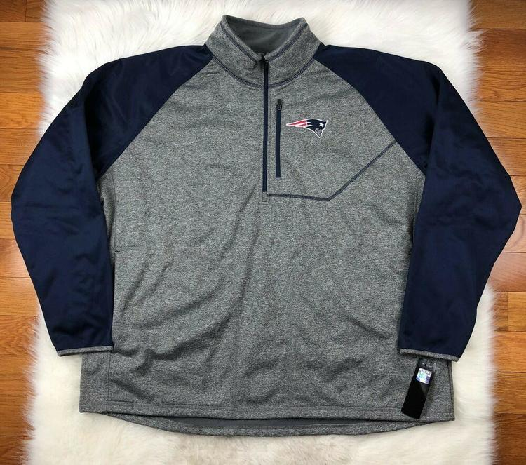 half off 005be 87278 NFL New England Patriots Soft Shell 1/4 Zip Pullover Track Jacket G-III Men  4XL