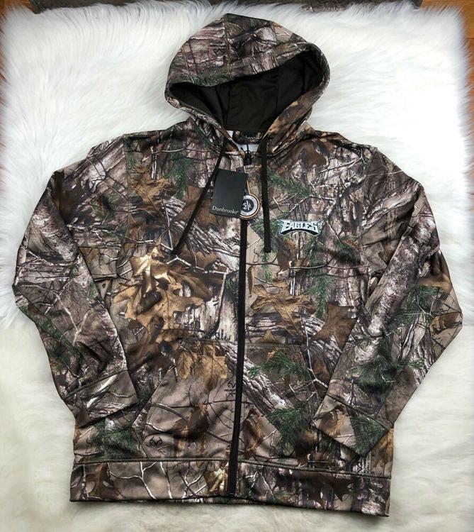 online store 177d4 ff5af Philadelphia Eagles NFL RealTree Xtra Trophy Quiet Tech Fleece Hoodie Camo  Men L