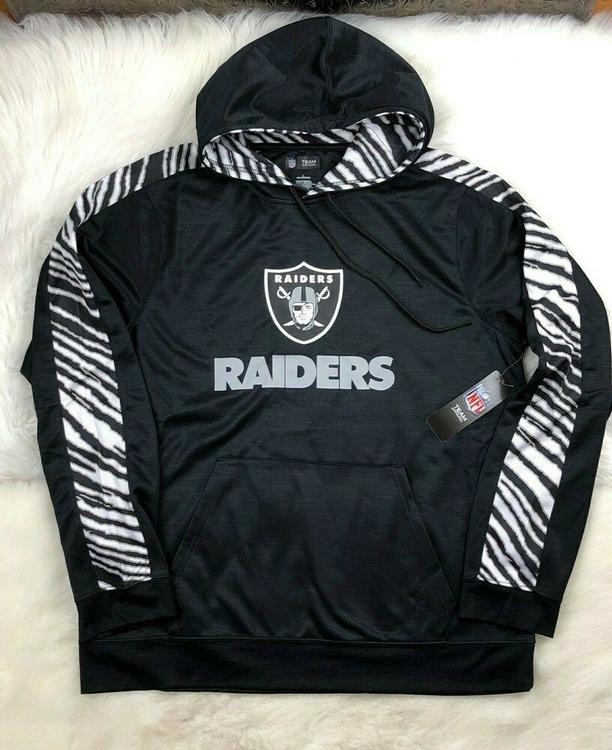 huge selection of 8317b ceb67 NFL Oakland Raiders Big Logo Arm Stripe Pullover Poly Hoodie, Black, Men's L