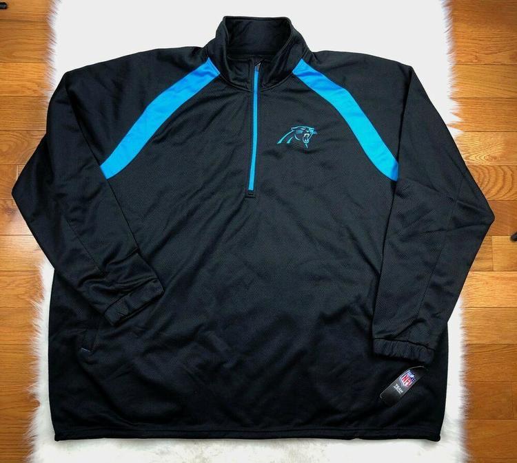 super popular 9af2f 9fc8e NFL Carolina Panthers 1/4 Zip Embroidered Track Jacket, Big & Tall Men's 6XL