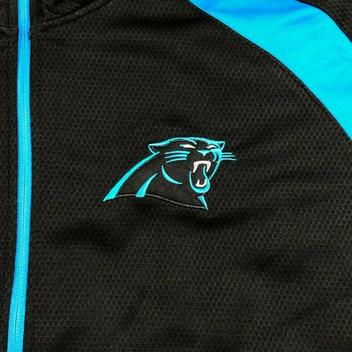 pretty nice c1406 d2c80 NFL Carolina Panthers 1/4 Zip Embroidered Track Jacket, Big ...