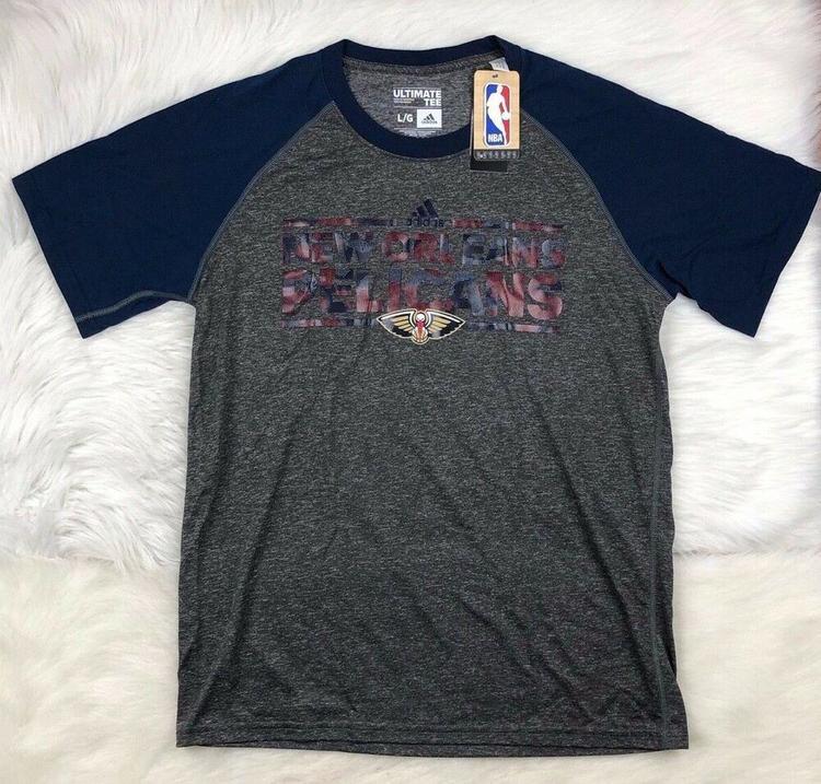 New Orleans Pelicans NBA Adidas Climate Performance SS T Shirt Men's L