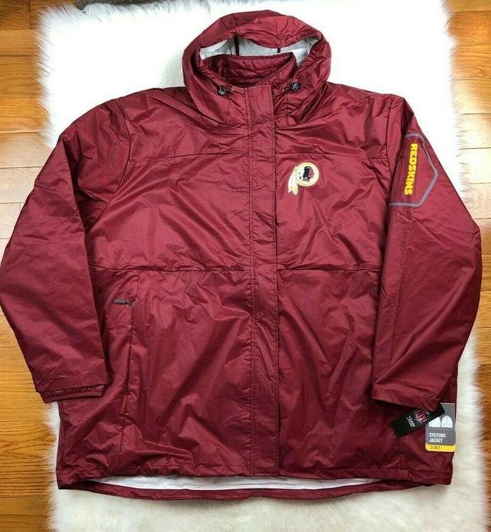 huge discount 624a4 6f218 Washington Redskins 3 in 1 System Jacket + Puffer Big & Tall Men 6XL NFL