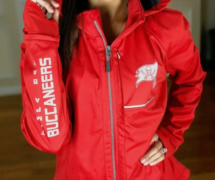 buy online 6c79b c708f NFL Tampa Bay Buccaneers Performance Soft Shell Hooded Jacket Reflective  Women M