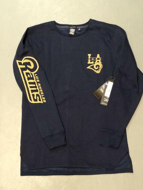f74f6559 Los Angeles Rams Crew Fleece Lined Sweatshirt Long Sleeve Men's Medium Tall  NFL