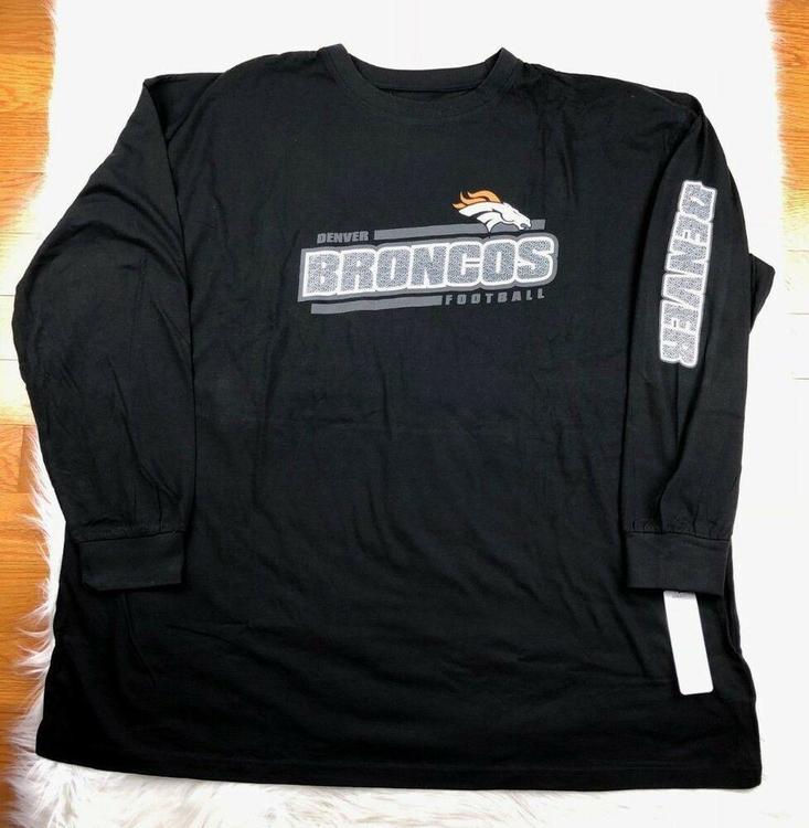 timeless design 24a6e 96069 NFL Denver Broncos Men's Big & Tall Long Sleeve Graphic T Shirt 5XL, Black