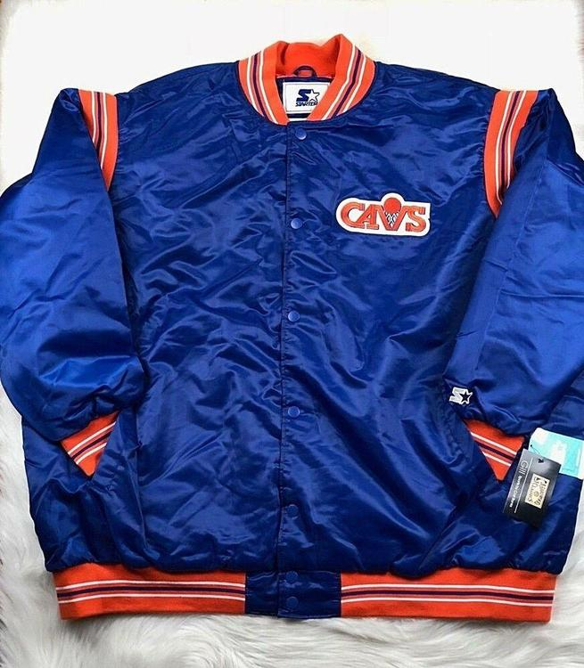 quality design 7a240 0c0d7 $150 NBA Cleveland Cavaliers STARTER Big Man Retro Satin Jacket Men's 6XL