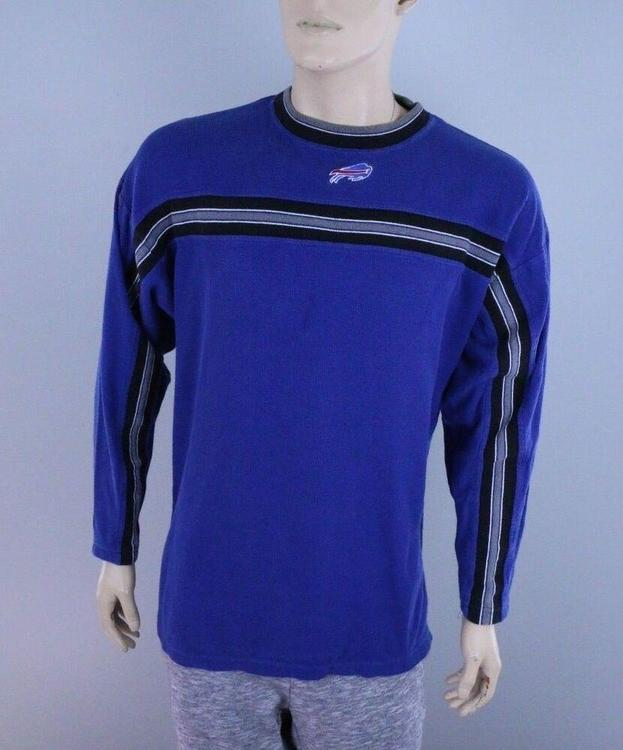 149a8bf9 Buffalo Bills Vtg 90s Men's NFL Football Long Sleeve Thermal Shirt, L, Blue