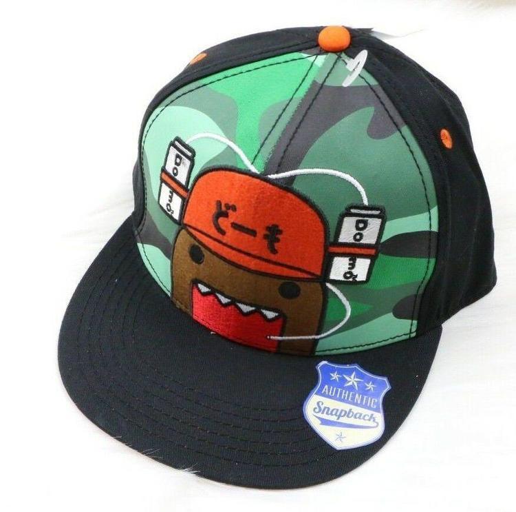 c053b5bf4 Domo Black Snapback Hat Japanese Broadcasting Mascot Character Flat Hat Cap
