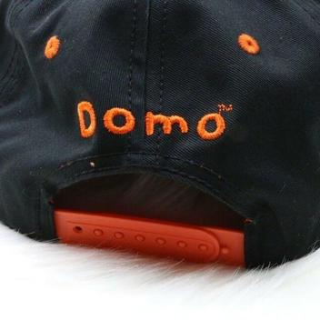 c68633a75 Domo Black Snapback Hat Japanese Broadcasting Mascot Character Flat ...