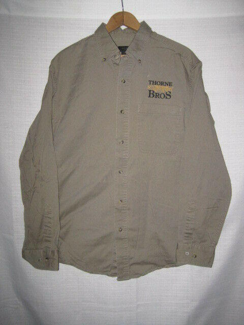 Thorne Bros  Custom Rod & Tackle Musky Fishing Shirt men's M long sleeve