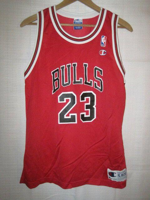 buy online 9165b c902e Chicago Bulls Michael Jordan Basketball Jersey boys XL 18/20 Champion