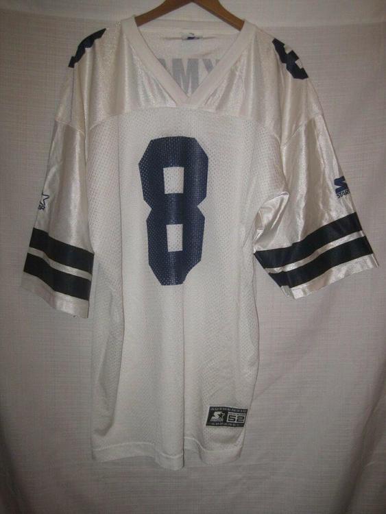 best website f72ea 65ef3 Vintage Dallas Cowboys Troy Aikman Starter Football Jersey men's 52 XL white