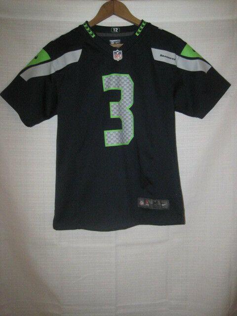 new style 92649 fae2c Seattle Seahawks Russell Wilson Nike On Field football jersey kids boys M  10/12