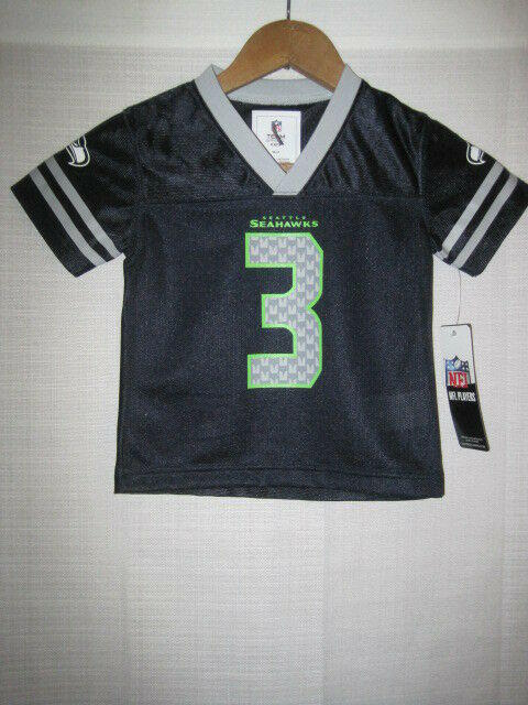 online store c8022 01abf Seattle Seahawks Russell Wilson football jersey kids boys blue 18 months  NWT NEW
