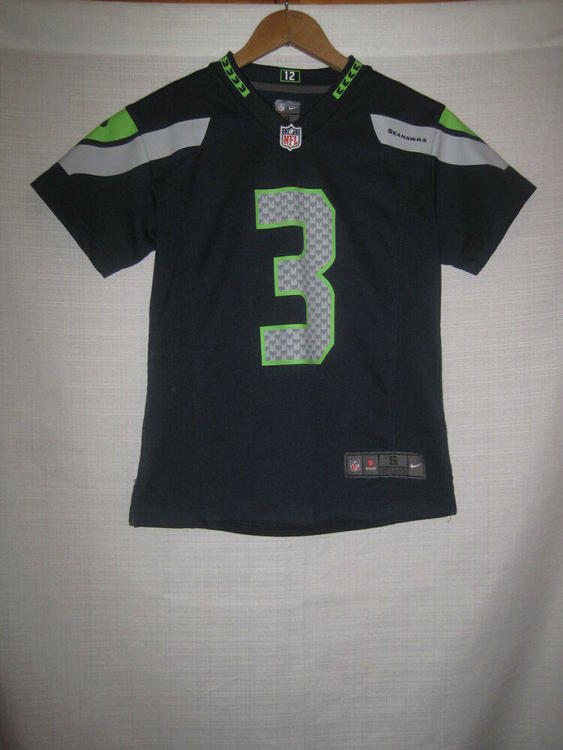 5bd46997 Seattle Seahawks Russell Wilson Nike On Field football jersey kids boys S 8